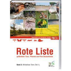 NaBiV Heft 70/3: Rote Liste gefährdeter Tiere, Pflanzen und Pilze Deutschlands - Bd 3: Wirbellose Tiere (Teil 1)