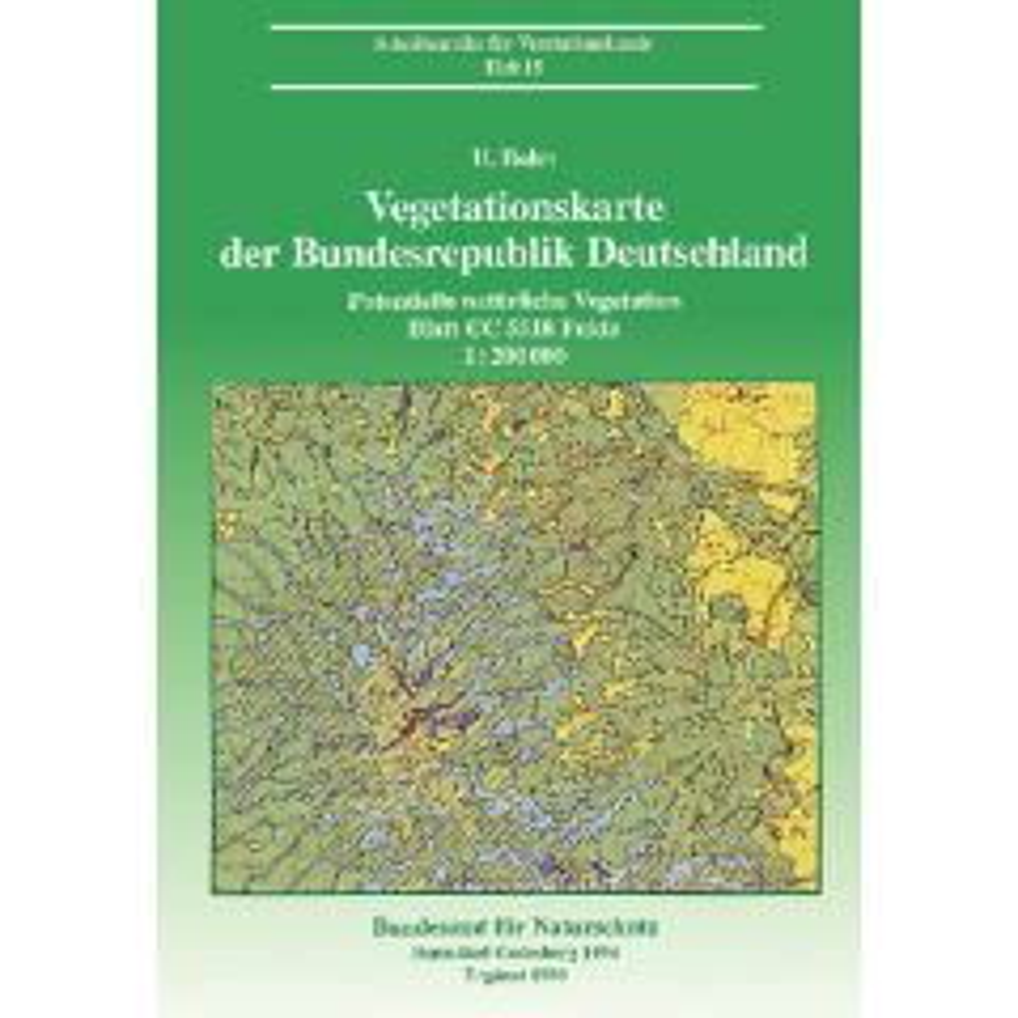 Ve Heft 15: Vegetationskarte der Bundesrepublik Deutschland 1 : 200000 - Potentielle natürliche Vegetation - Blatt CC 5518 Fulda.