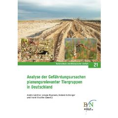NaBiV Heft 21: Analyse der Gefährdungsursachen planungsrelevanter Tiergruppen in Deutschland